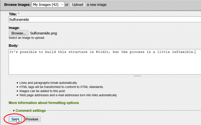 Add image page dialog completion
