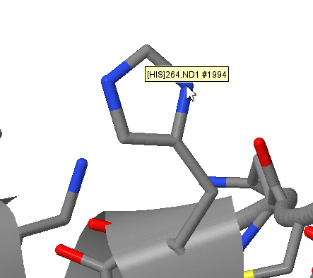 JMol atom display for protein