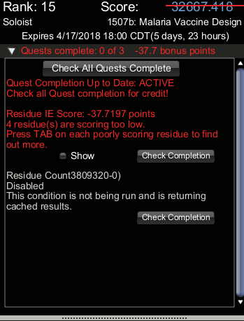 Quests active, but not all enabled