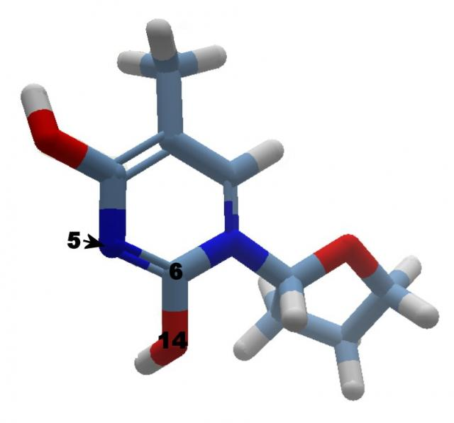 Solution AZT003a - AZT starter molecule: Changing bonds may generate a debug.txt