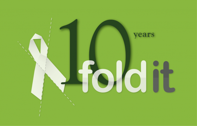 Foldit 10th Anniversary Graphic