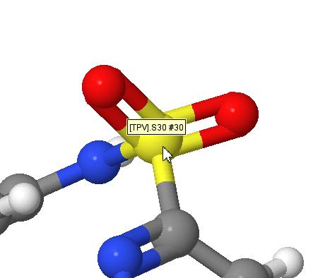 JMol atom display for ligand
