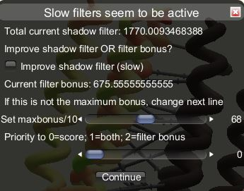 Filtered puzzle start dialog